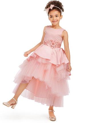 Платье для малышей из атласа и тюля для малышей Rare Editions