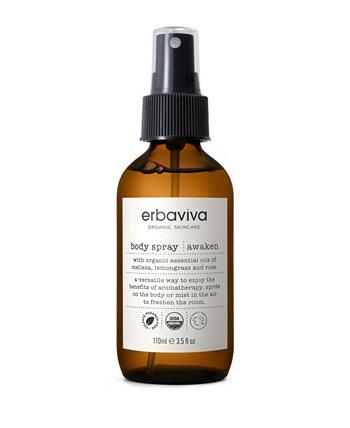 Awaken Body Spray, 3,5 жидких унций ERBAVIVA