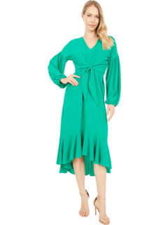 Платье с пышной юбкой из крепа Catalina с высокой посадкой London Times