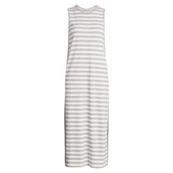 Платье миди в полоску без рукавов Joan Vass