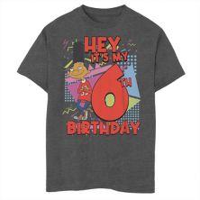 Футболка для мальчиков 8-20 Nickelodeon Hey Arnold Gerald с рисунком на шестой день рождения Nickelodeon