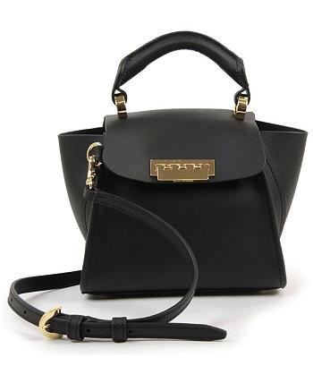 Кожаная сумка через плечо Eartha Iconic Mini с верхней ручкой Zac Posen