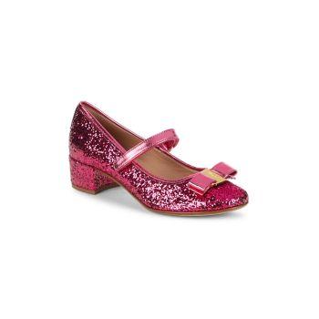 Кожаные каблуки Girl's Sparkle Salvatore Ferragamo