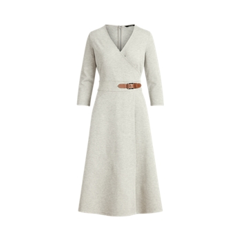 Платье Ponte с пряжками Ralph Lauren
