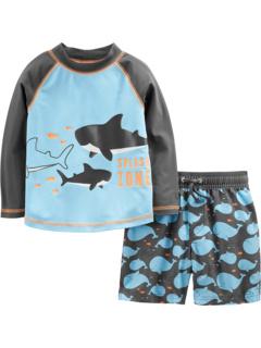 Двухкомпонентные плавки и рашгард (для младенцев) Simple Joys by Carter's