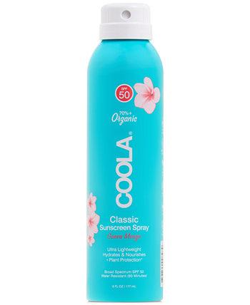 Органический солнцезащитный спрей Classic Body Organic Sunscreen Spray SPF 50 - Guava Mango, 6 унций. COOLA