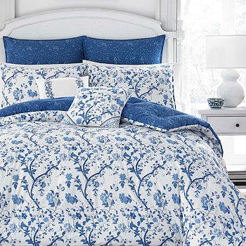 Комплект темно-синего одеяла Twin Elise Laura Ashley