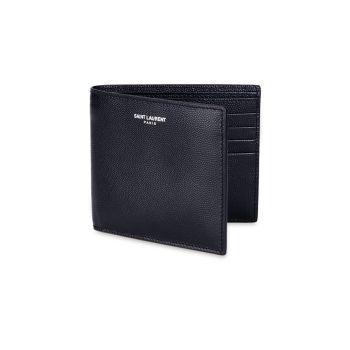 Кожаный кошелек Grain Saint Laurent