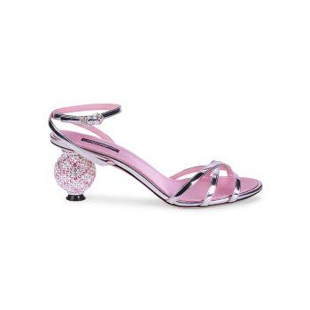 Embellished Patent Leather Ball-Heel Sandals DOLCE&GABBANA