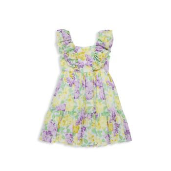 Little Girl's & Girl's Floral Ruffle Dress Janie and Jack