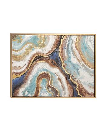 Цветной гламурный абстрактный холст, настенное искусство, 36 дюймов (В) x 47 дюймов (Д) Rosemary Lane