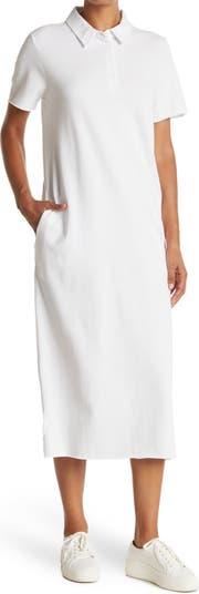 Миди-платье из пике с воротником-стойкой Cloth By Design