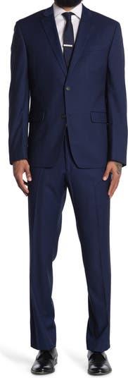 Комфортный эластичный костюм-двойка облегающего кроя Perry Ellis