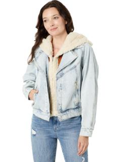 Джинсовая куртка Moto со съемным капюшоном Blank NYC