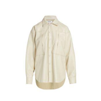 Универсальная рубашка из веганской кожи AGOLDE