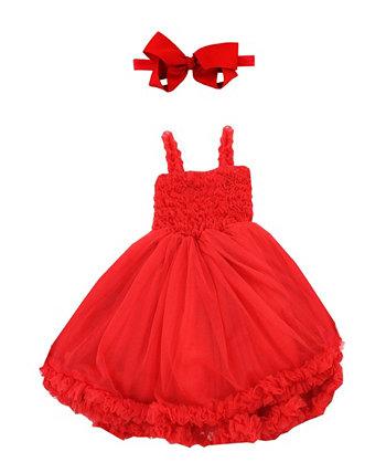 Платье принцессы Петти для маленьких девочек с повязкой на голову RuffleButts