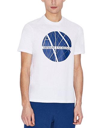 Мужская футболка с рисунком центрального круга Armani Exchange