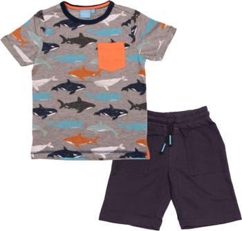 Комплект из двух футболок и шорт с принтом китов BEAR CAMP