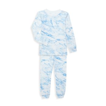 Little Boy's & amp; Двухкомпонентный длинный пижамный комплект Boy's Wolf Esme