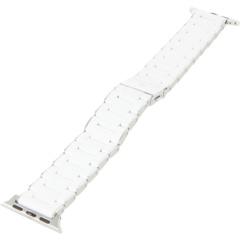 Белый ремешок из нержавеющей стали с силиконовым покрытием для Apple Watch Michele