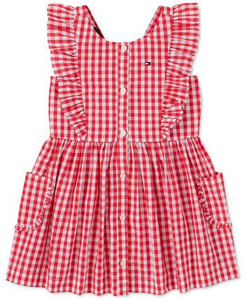 Baby Girls Cotton Gingham Dress Tommy Hilfiger