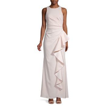 Вечернее платье с оборками Carmen Marc Valvo Infusion
