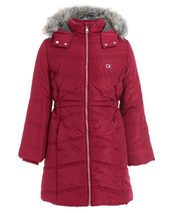 Куртка с капюшоном для маленьких девочек Calvin Klein
