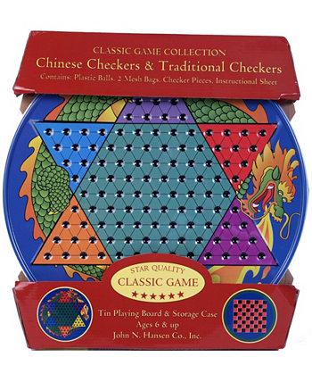 Китайские шашки и традиционные шашки олово John N. Hansen Co.