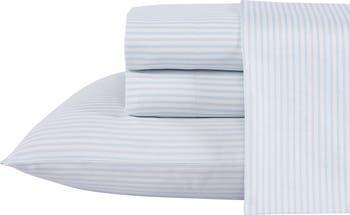 Ramona Комплект простыней T300 из хлопка King из 4 предметов в синюю полоску Laura Ashley