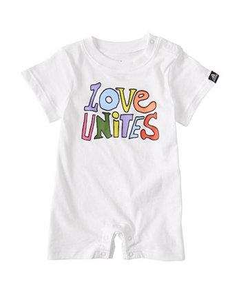 Baby Boys Pride Cotton Romper Adidas