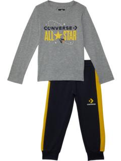 All Star Metallic Long Sleeve & Joggers (Little Kids) Converse Kids