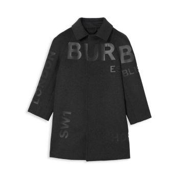 Little Boy's & amp; Шерстяно-кашемировое пальто Nelson Horseferry для мальчиков Burberry