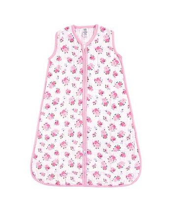 Unisex Baby Safe Sleep Носимые спальные мешки Цветочный муслин 1Pack 0-24 месяца Luvable Friends