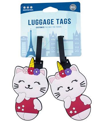 2-шт. Набор багажных бирок для кошек Bon Voyage