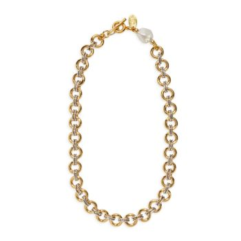 Ожерелье-цепочка с позолоченным жемчугом 18 карат Lizzie Fortunato