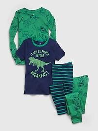 Kids 100% Organic Cotton Dinosaur Graphic PJ Set (2-Pack) Gap
