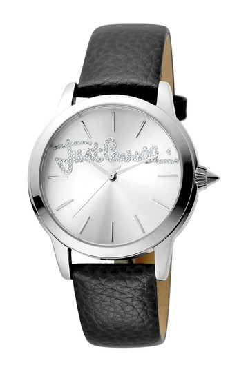 Женские часы с тисненым логотипом на кожаном ремешке, 36 мм Just Cavalli