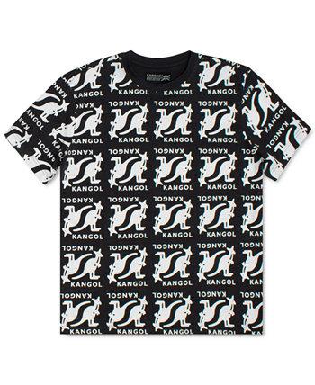 Men's Allover Print Symmetric T-Shirt Kangol