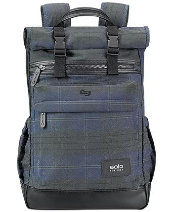Мужской рюкзак с откидным верхом с принтом из вощеного хлопка Highland Solo