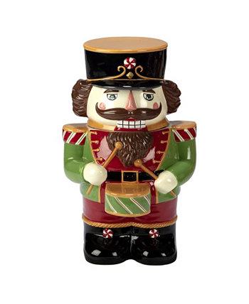 Праздничная волшебная банка для печенья `` Щелкунчик 3D '' Certified International