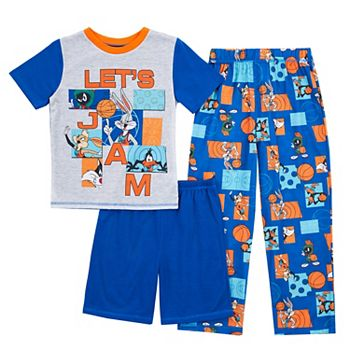 Boys 4-12 Space Jam Top, Shorts & Pants Pajama Set Licensed Character
