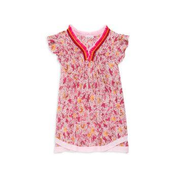 Платье Sasha Pintuck с цветочным принтом для маленьких девочек и девочек Poupette St Barth