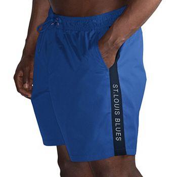 Men's G-III Sports by Carl Banks Blue/Black St. Louis Blues Volley Swim Shorts G-III