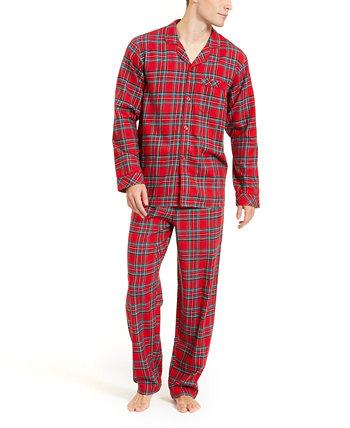 Соответствующий большой и высокий семейный пижамный комплект Brinkley Plaid, созданный для Macy's Family Pajamas