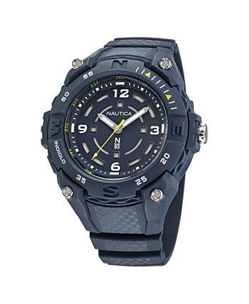 Мужские аналоговые часы N83 с синим силиконовым ремешком, 40 мм Nautica