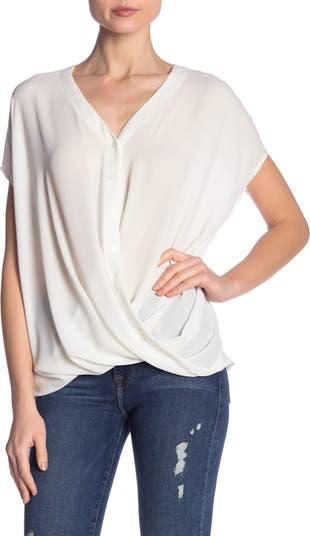 Блуза с короткими рукавами и драпировкой ALL IN FAVOR