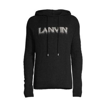 Вязаный свитер с капюшоном Lanvin