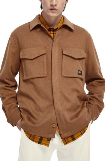 Куртка-рубашка из смесовой шерсти на пуговицах Scotch & Soda SCOTCH AND SODA