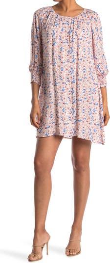 Мини-платье прямого кроя с цветочным рисунком Collective Concepts