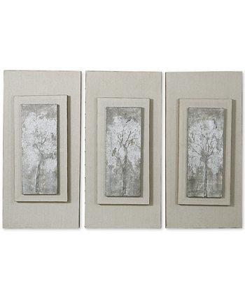 Деревья-триптихи 3-шт. Настенный набор с ручной росписью Uttermost
